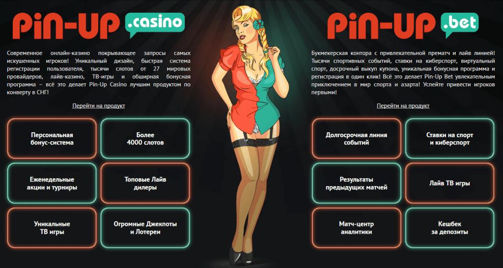 Проекты партнёрской программы Pin Up